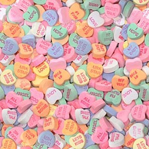 Picture Love Heart on Necco Produces The Hearts From Late February Though Mid January Of The